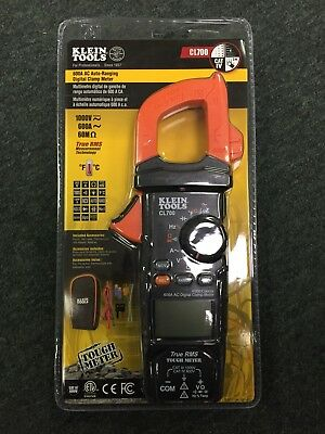 Klein Tools CL700 600A AC Auto-Ranging Digital Clamp Meter ~ New ~ Free Shipping