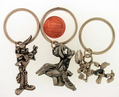 3 Piece Lot Wile E Coyote Keychains Warner Bros Looney Tunes Wb Store Set L5