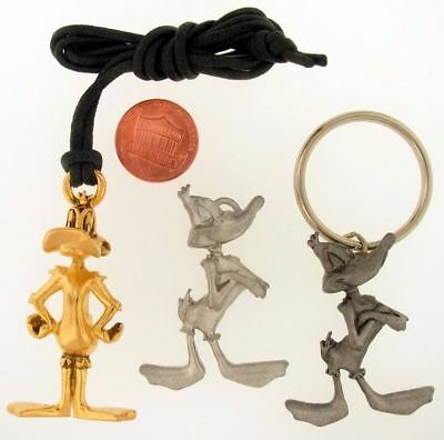 3Pc Daffy Duck Necklace Charm Keychain Warner Bros Looney Tunes Wb Store Lot L11