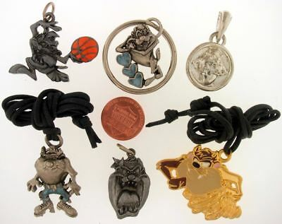 6 Piece Lot Taz Devil Keychains Necklaces Charms Warner Bros Looney Tunes Wb L39