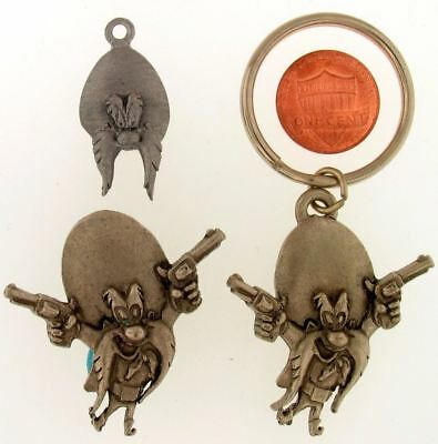 3 Piece Lot Yosemite Sam Keychain Pin Charm Set Warner Bros Looney Tunes Wb L48