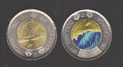 2  X  2017  Canada  150  $2  Toonie   Dance  Of  The  Spirits    Unc
