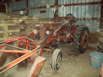 Farmall M wide front tractor WITH Dual Grapple Loader... NO Reserve...N. Dakota