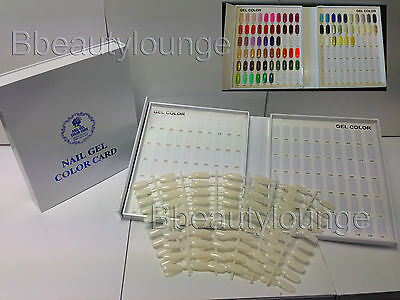 120 Tip White Nail Colour Chart Display Book For UV/LED Gel Polish BUY 2 = GIFT!