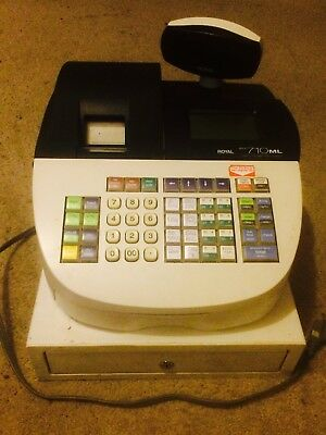 Royal Alpha 710ML Cash Register Good Working Condition NO Keys or Manual