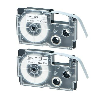 AU Stock 2x Compatible Casio XR-9WE Black on White Label Tape for EZ KL-100 9MM