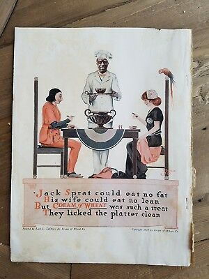 1917 cream of wheat cereal boy General Store Edward V Brewer art ad
