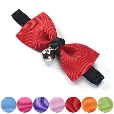 New Adjustable Dog Cat Pet Necktie Bow Tie With Bell Puppy Kitten Necktie Collar