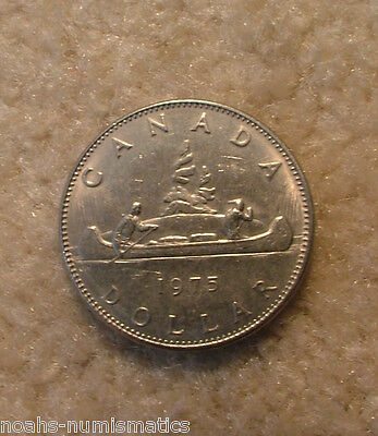 WOW!!! 1975 Canada Nickel One Dollar Canadian $1 Circulated