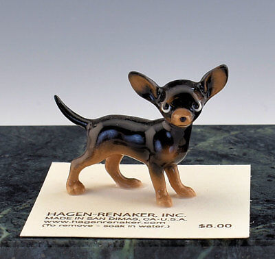 Hagen Renaker Miniature Dog Chihuahua Black & Brown  - New - Item # 03511