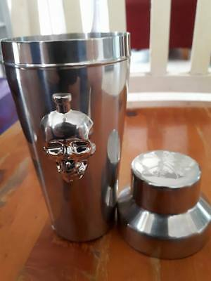Vodka, Crystal Head Vodka Alcohol 3D Cocktail Shaker in Stainless Steel