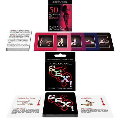 50 Positions of Bondage Playfully Kinky Sex & Lets F-ck Cards Game Toy