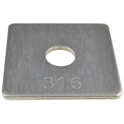 M10 M12 M16 M20 M24 Metric Heavy Square Washers Marine Stainless A4 G316