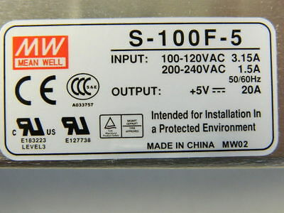 MEAN WELL S-100F-5 Switching Power Supply