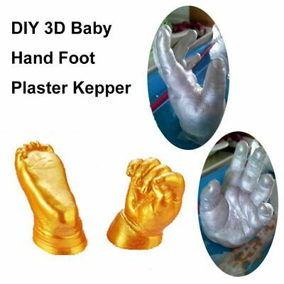 3D Plaster Handprint Footprint Cast Mould Hand Foot Casting Kit Baby Keepsakes