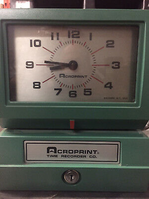 Acroprint Time Clock Electric Print NEW old stock Standard Time Recorder 150Nr4