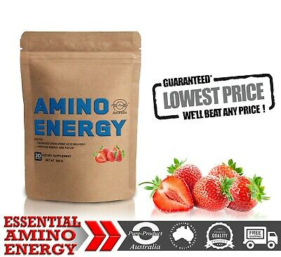 300g Essential Amino Energy  30 Serves  Strawberry  Flavour