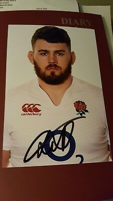 England Rugby Player Luke Cowan Dickies Hand Signed Autograph