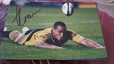 All Blacks Rugby Player Hosea Gears Hand Signed Autograph