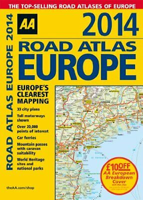 AA Road Atlas Europe 2014 by Automobile Association Book The Cheap Fast Free