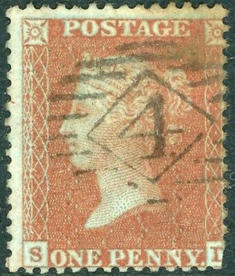1d red C6 - SD plate 21 - scarce, trimmed lower right