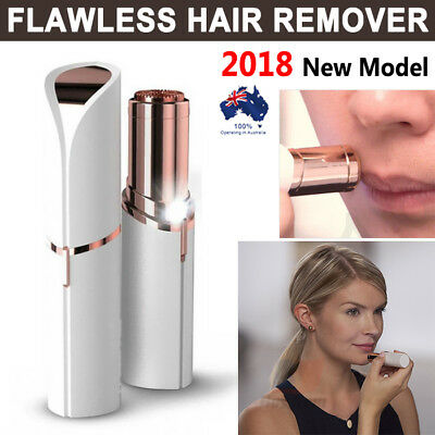 Women's Flawless Hair Remover Ladies Lipstick Shaving Device Facial Hair Razor