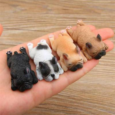 Cute 3D Sleeping Bulldog Fridge Magnet Sticker Magnetic Cartoon Puppy Figurine