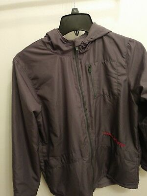Under Armour boys youth size L large jacket gray full zip with hood