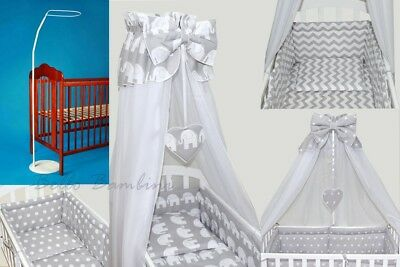 10 pcs CRIB bedding set /BumperALL ROUND/sheet/duvet/CANOPY/CANOPY HOLDER COTTON