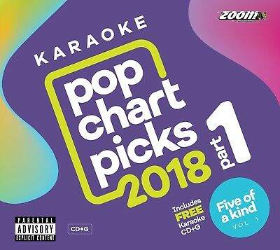 Zoom Karaoke CD+G - Pop Chart Picks 2018 (Part 1) + FREE Five Of A Kind CD+G