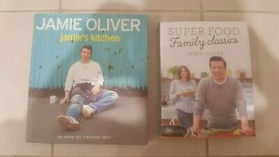 x2 Jamie Oliver Super Food Family Classics Jamie's Kitchen Hardcover Set Free SH