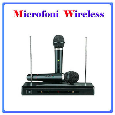 Radiomicrofono doppio Wireless