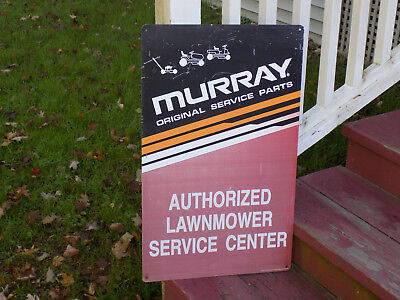 Murray Authorized Lawn Mower Service Metal Sign