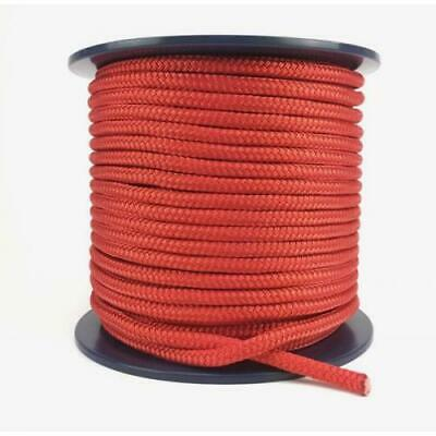 100m x 6mm SOLID  Rope - Double Braid Polyester for Yacht Boat & Marine