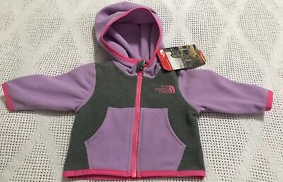 The North Face Infant Front Zip Hoodie Size 0-3 Months NWT $35.00