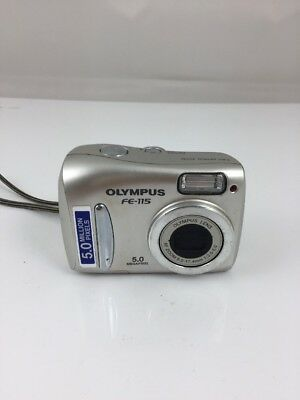 Olympus FE - 115 Digital Camera Point And Shoot 5.0 M Pixels Compact  Camera