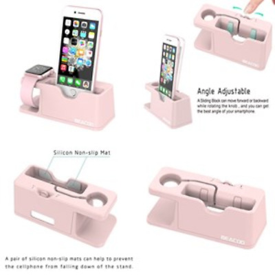 Charging Dock Charge Station Stand Apple Watch 38/42mm iPhone Bracket Iwatch