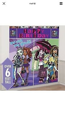 MONSTER HIGH SCENE SETTER Happy Birthday Party Wall Decor Decoration Backdrop