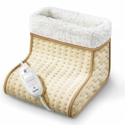 Beurer Cosy Heated Electric Foot Warmer, Washable, 3 Heat Settings, Slippers