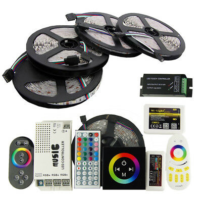 5-10M 5050 RGB 30 LED Strip Light Mi-Light Dimmable Sound Activated Music Color