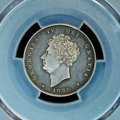 Shilling 1826 PCGS PR62 Great Britain Silver Proof Coin Nice Patina Rare