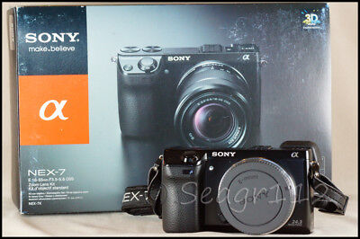 Sony Alpha E Mount NEX-7 24.3MP Digital Camera Body - 1880 Clicks - Near Mint