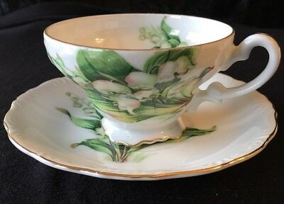 Vintage Cherry China JAPAN Lily of the Valley Cup & Saucer