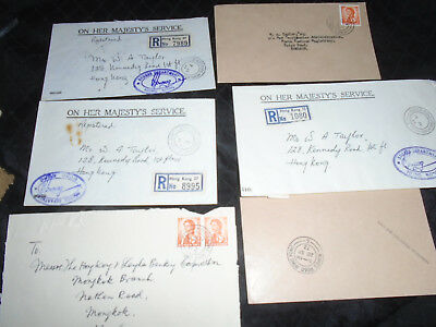 7 x Hong Kong China Covers all Kings Road Postmark Incuding 3 Registered
