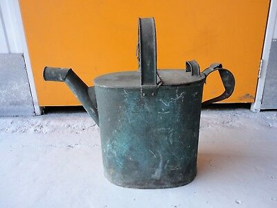 Lovely Vintage Decorative Galvanised Metal Watering Can For Display / Prop