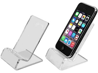 Wholesale Lots of Clear Acrylic Desktop Desk Stand Holders For Cell Phones