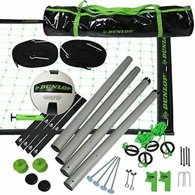 Outdoor Sports Volleyball Set: Portable Net With Poles, Ball & Air Pump - For