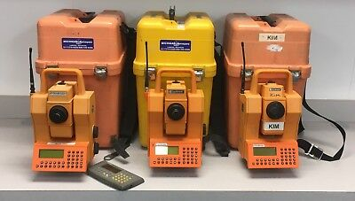 3 Geodimeter 600 Robotic Total Stations with Controllers