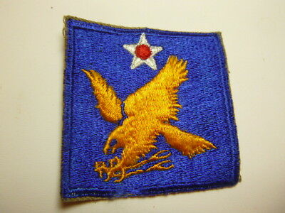A    WW 2 U S Army 2nd Air Force   Cut Edge Snow Back Patch