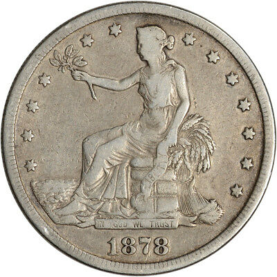 1878-S US Silver Trade Dollar T$1 - F Condition